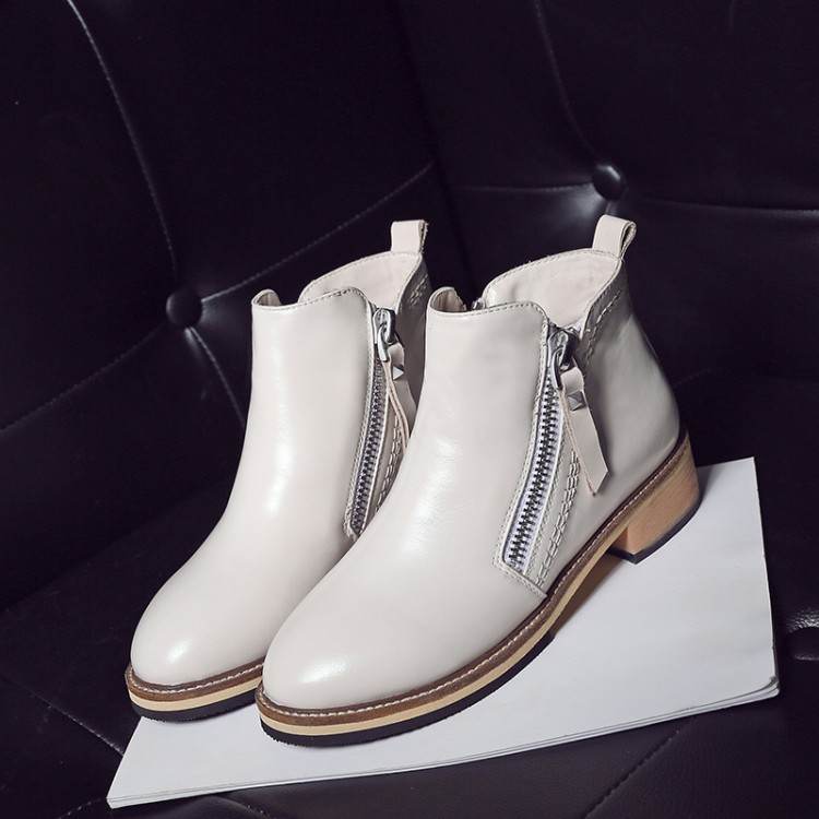 ФОТО 34-40Women 's Boots 2016 stylish casual side zipper breathable real leather comfortable boots