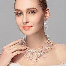 Cute Wedding Necklace & Earrings Jewelry Set