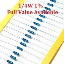 1/4w Resistors Metal 100pcs/Lot Color-Ring 1%0.25w 1M/1.5M