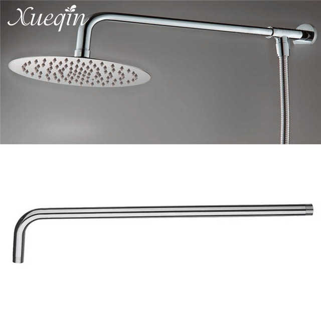 Xueqin 24inch Wall Mounted Stainless Steel Shower Extension Arm For Rainfall Head Arms Bathroom