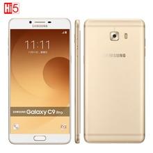 Оригинальный Samsung Galaxy C9 Pro C9000 Dual SIM Qualcomm Snapdragon Octa ядро 6 »6 ГБ RAM 64 ГБ ROM 16MP Android6.0 Мобильный телефон