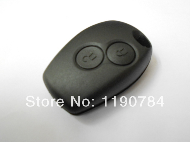 renault duster logan scenic fluence slio 2 buttons car key replacement shell case cover blank. Black Bedroom Furniture Sets. Home Design Ideas