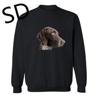 Dropshipping 3D Hoodies Men German Shorthaired pointer Sweatshirt Men For Dog Lover Hoodie sudadera buzo hombre Mens Clothes Top