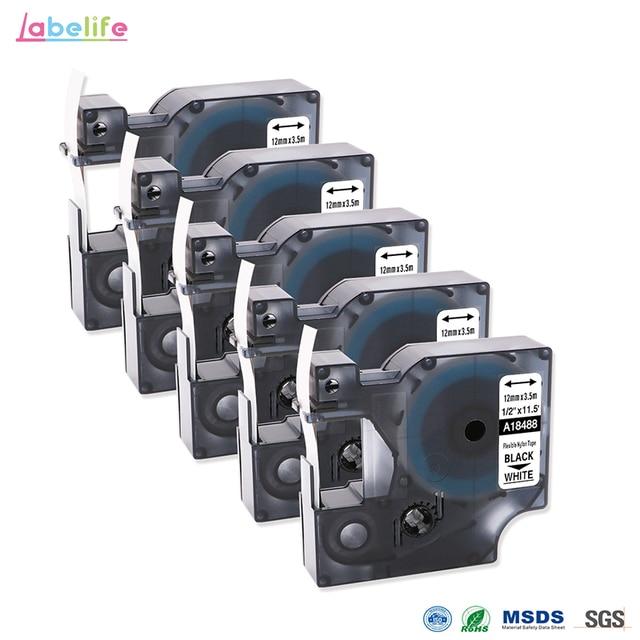 Best Price Labelife 5 Pack 18488 Rhino 12mm Flexible Nylon Labels