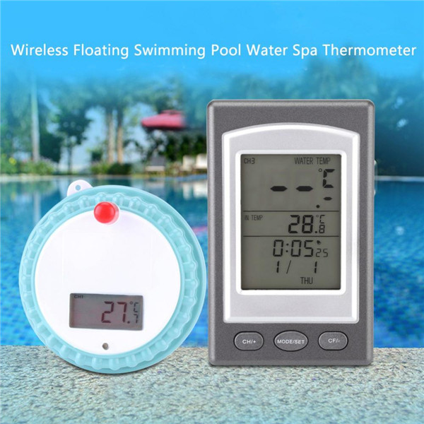 US $26.54 |Wireless Digital Floating Swimming Pool Thermometer Water Spa  Temperature Gauge-in Temperature Instruments from Tools on Aliexpress.com |  ...