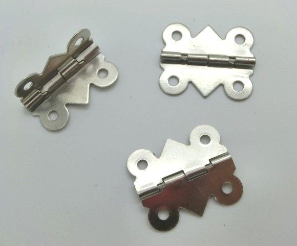 Free Shipping-50pcs Door Butt Hinges(rotated From 90 Degrees To 210 Degrees)  Silver Tone 4 Holes 20mm X 17mm M01117-1