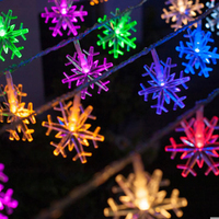 10M Led String Lights 70leds Snowflake Led Christmas Tree Lights Home Party Wedding Docoration Silver Wire