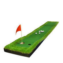 50X300CM Mini Backyard Golf Putting Green Indoor Golf Training Practice Hitting Mat Simulation Golf Green OEM Logo Golf Mat