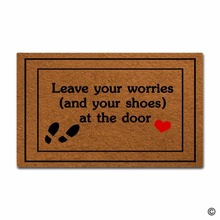 Rubber Doormat For Entrance Door Floor Mat Non-slip DoormatLeave Your Worries (And Your Shoes) At The Door Door mat Decorative N все цены