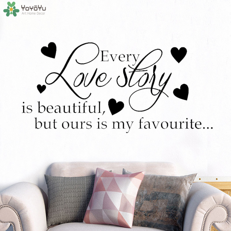 yoyoyu wall decal romantic wedding wall sticker quotes every love