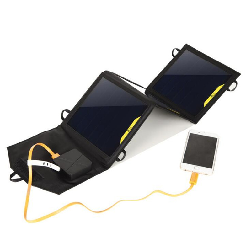SunPower 10W Solar Cells Charger 5V 2A USB*2 Output Devices Portable Solar Panels for Smartphones Laptop