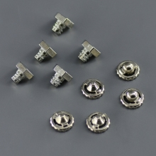 10pcs/ lot Qualified Beyblade Parts Kit, 5 pieces Metal Face Bolt + 5 pieces Metal Performance Tip europium metal 99 95% 5 grams shiny pieces in ampoule under argon