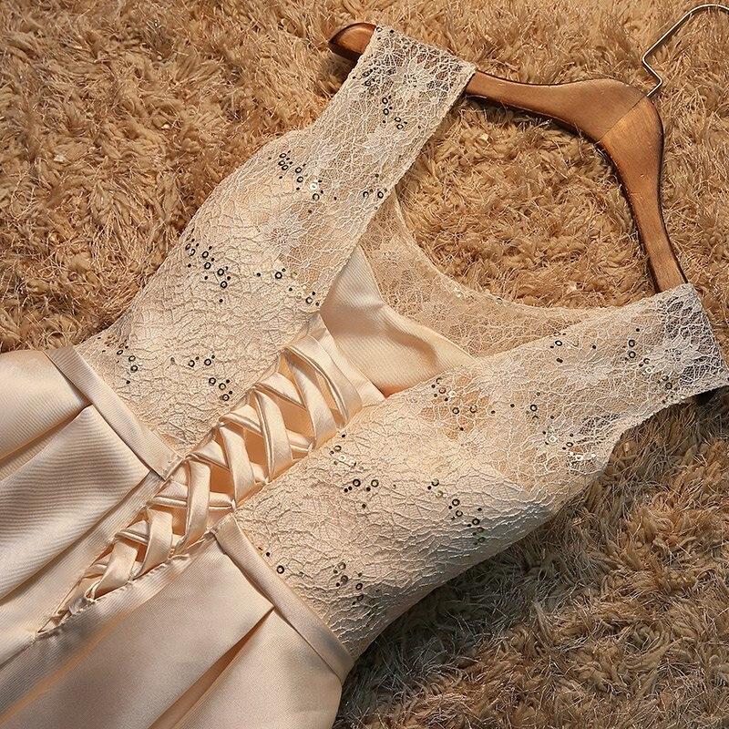 Robe de soiree 2019 korte kant plus size lace up avondjurk vestido de - Jurken voor bijzondere gelegenheden - Foto 5