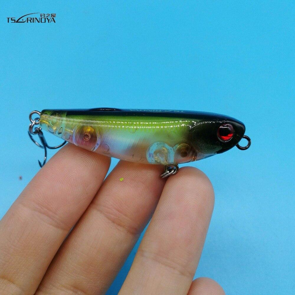 TSURINOYA 1PCS/LOT Mini Pencil Fishing Lure 5g/5cm 12colors Top Water Hard Lure rtifical Fishing Bait