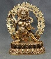 8 Тибет Буддизм латунь Ваджрапани Хана Дордже разгневанного tutelary божество статуя