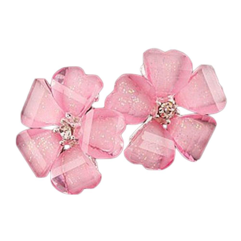 ᗑ3 aleación color caramelo lindo color trébol de cinco hojas flor ...