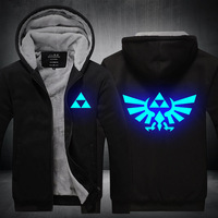 Anime Game Legend of Zelda Breath of the Wild Cosplay Costume Noctilucent Printed Hoodies Hooded Jacket Sweatshirts