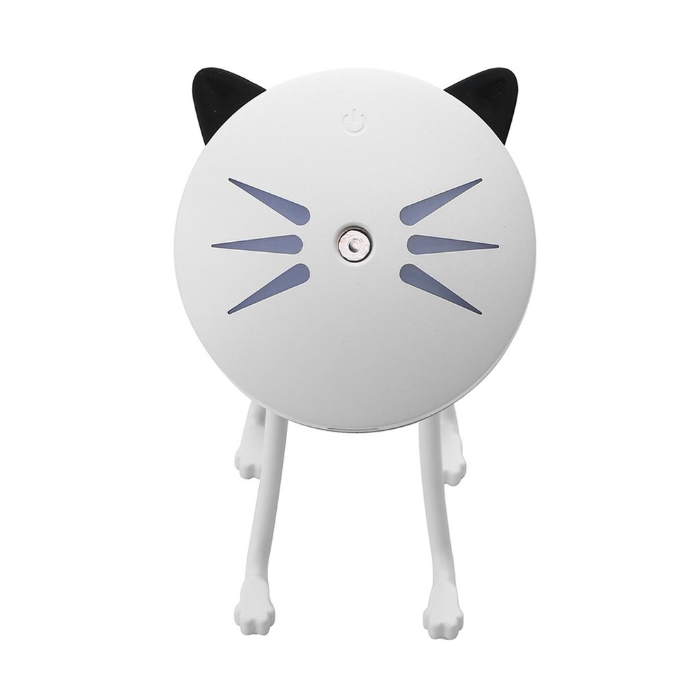 25ml/h Ultrasonic Mini Cat Shape USB Air Humidifier Diffuser Mist Sprayer For Office Home Car LED Night Light Purifier Atomizer