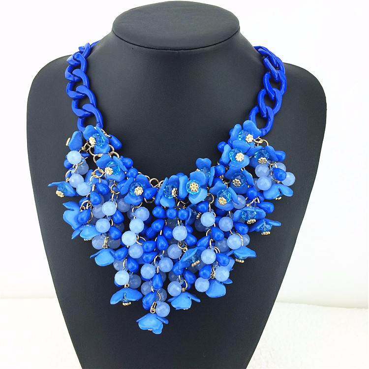 Multilayer Statement Necklace 2016 Big Gorgeous Flower Crystal Pendant Necklace Women Collares Largos Fashion Jewelry Necklaces