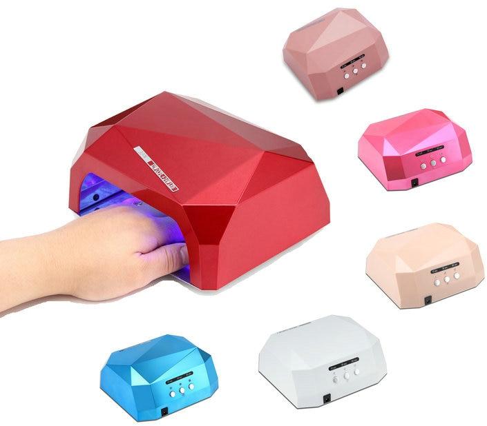 Sensor 36W Nail Dryer Diamond Shaped UV Lamp LED Lamp LED CCFL Curing for UV Gel