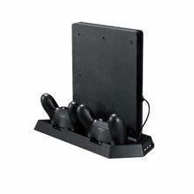 Ps4 вертикальная стенд ж/вентилятор охлаждения устройство playstation 4 console ps4 контроллеры зарядное устройство dual usb зарядное устройство портов usb hub