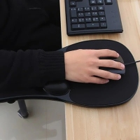 Armrest Ergonomic Computer Mouse Pad Rest Hand Wrist Shoulder Double Fixing Mat for Table Bracer Wrist Support Mouse Pad