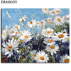 Hot selling framed flower diy painting by numbers wall art diy canvas oil painting home decor.jpg 250x250