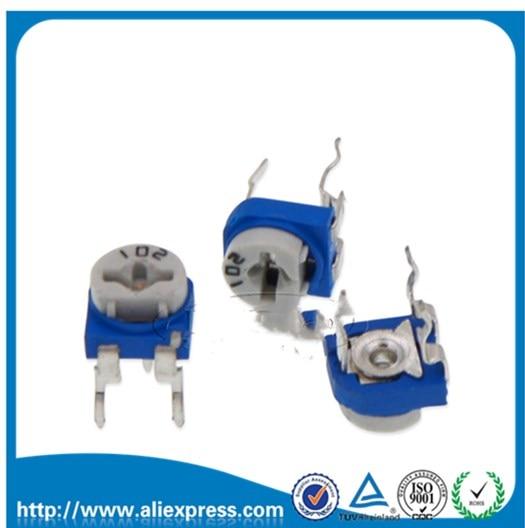 50Pcs Trimmer Potentiometer RM065 RM-065 500Rohm 501 500R Trimmer Resistors Variable Adjustable Resistors