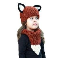 Baby Caps Children S Winter Hat Hats For Girls Boys Kids Hat Scarf Set Knitted Cartoon