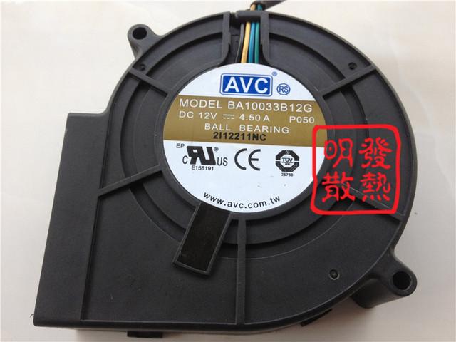 El 9733 original de escape de la turbina de aire del ventilador centrífugo ventilador 12 V 4.5A BA10033B1