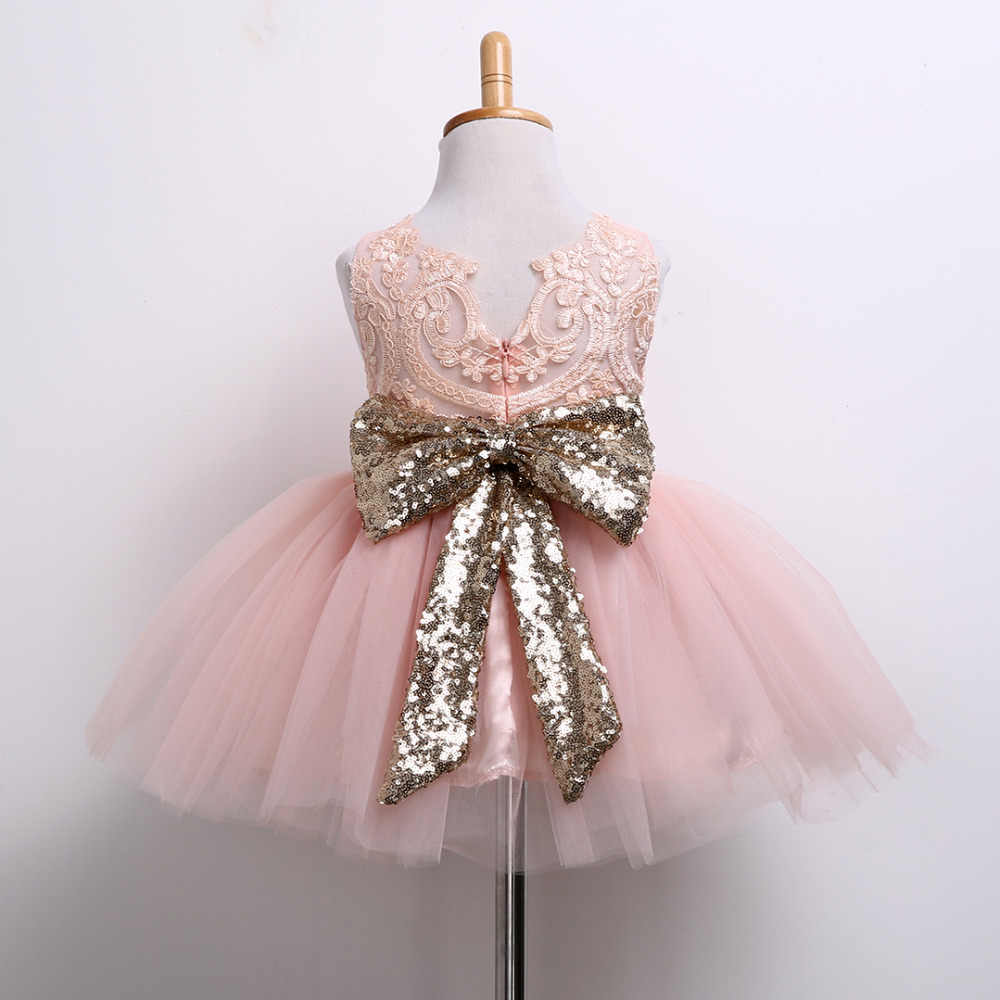 0-10T nueva moda vestido de lentejuelas flor niña fiesta cumpleaños boda princesa bebé Niñas Ropa niños niñas Vestidos Niña