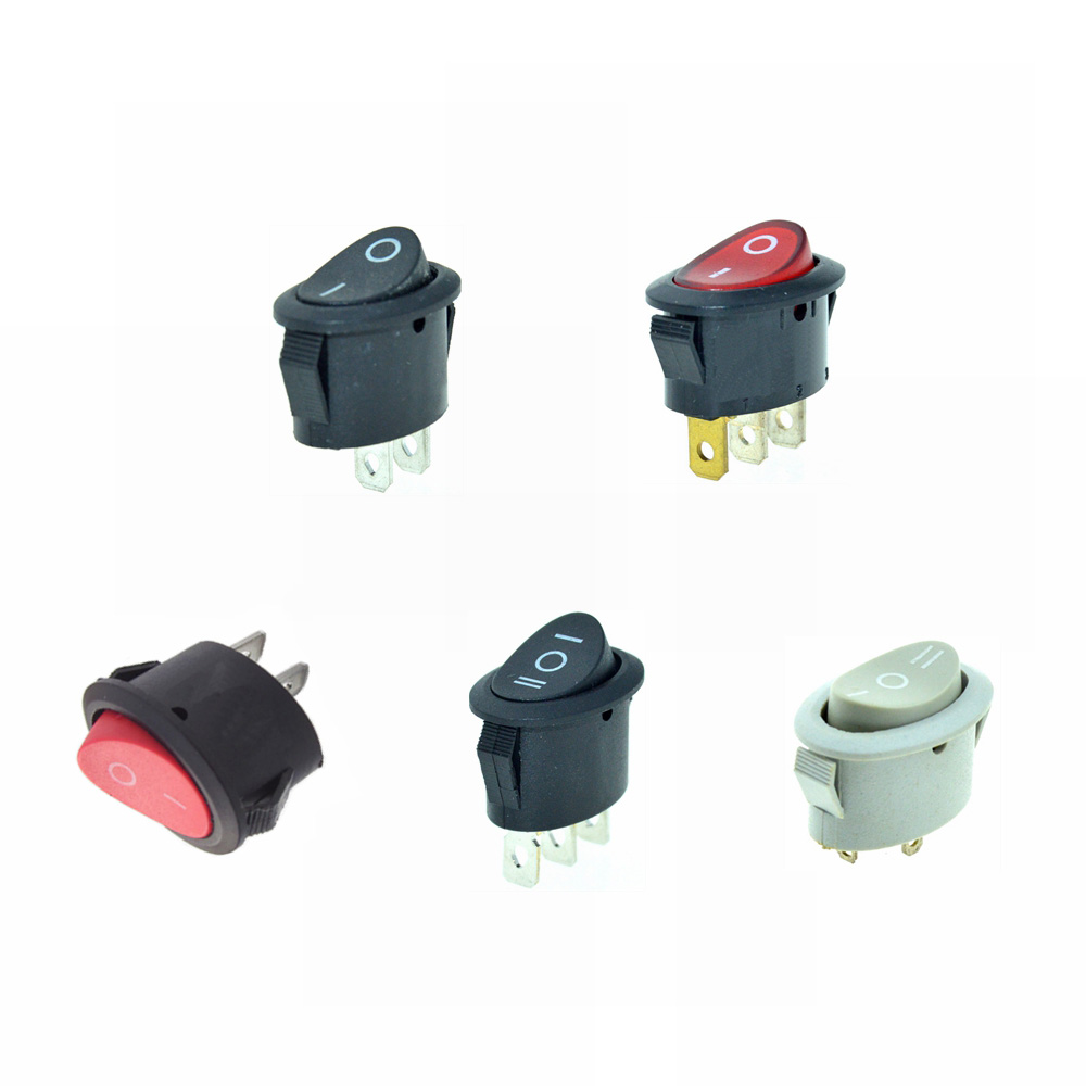 Car Rocker Switches Boat Switch Latching Dpst Dpdt 4 Pin 6 23 Illuminated Red Led Oval 16 Amp Black Button 2 Position 3 2pin 3pin Spst Spdt