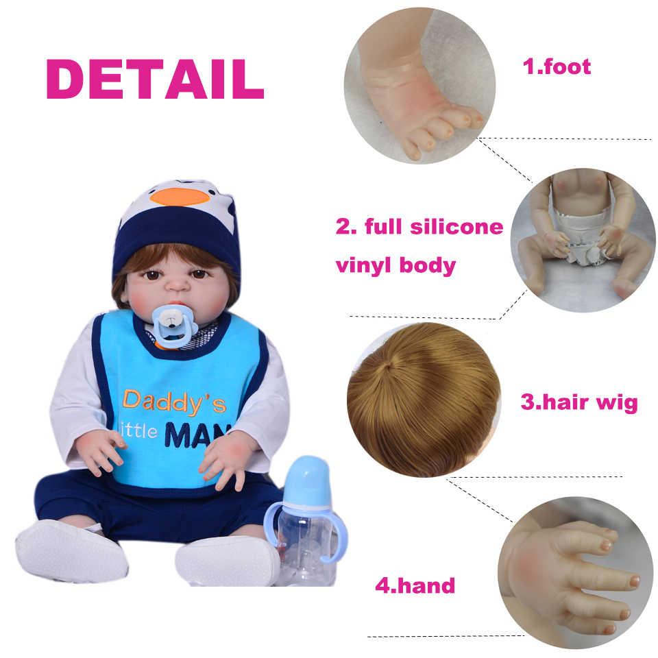 KEIUMI 57 см новые куклы Reborn реалистичные детские игрушки полностью силиконовые виниловые боди Bebe Reborn Bonecas коллекционный подарок на день рождения для мальчика