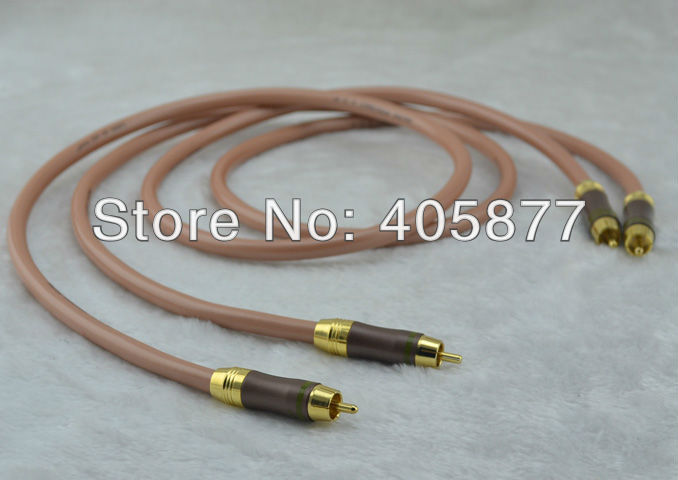 цена на Pair Hifi audio the only sound RCA Interconnect Cable 1.5m with Choseal RCA PLUG CABLE