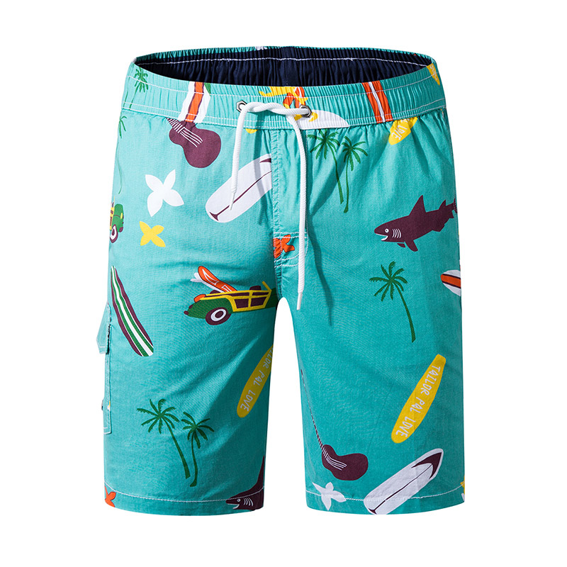 Hot Summer Beach   Board     Shorts   Mens Loose Cotton Swimwear Swim   Shorts   Trunks Print Running Sports Surffing   Shorts   Plus Size 3XL
