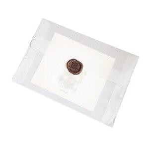 Image 4 - 50ピース/ロット新韓国ヴィンテージブランク半透明ベラム封筒diy多機能ovelyギフト