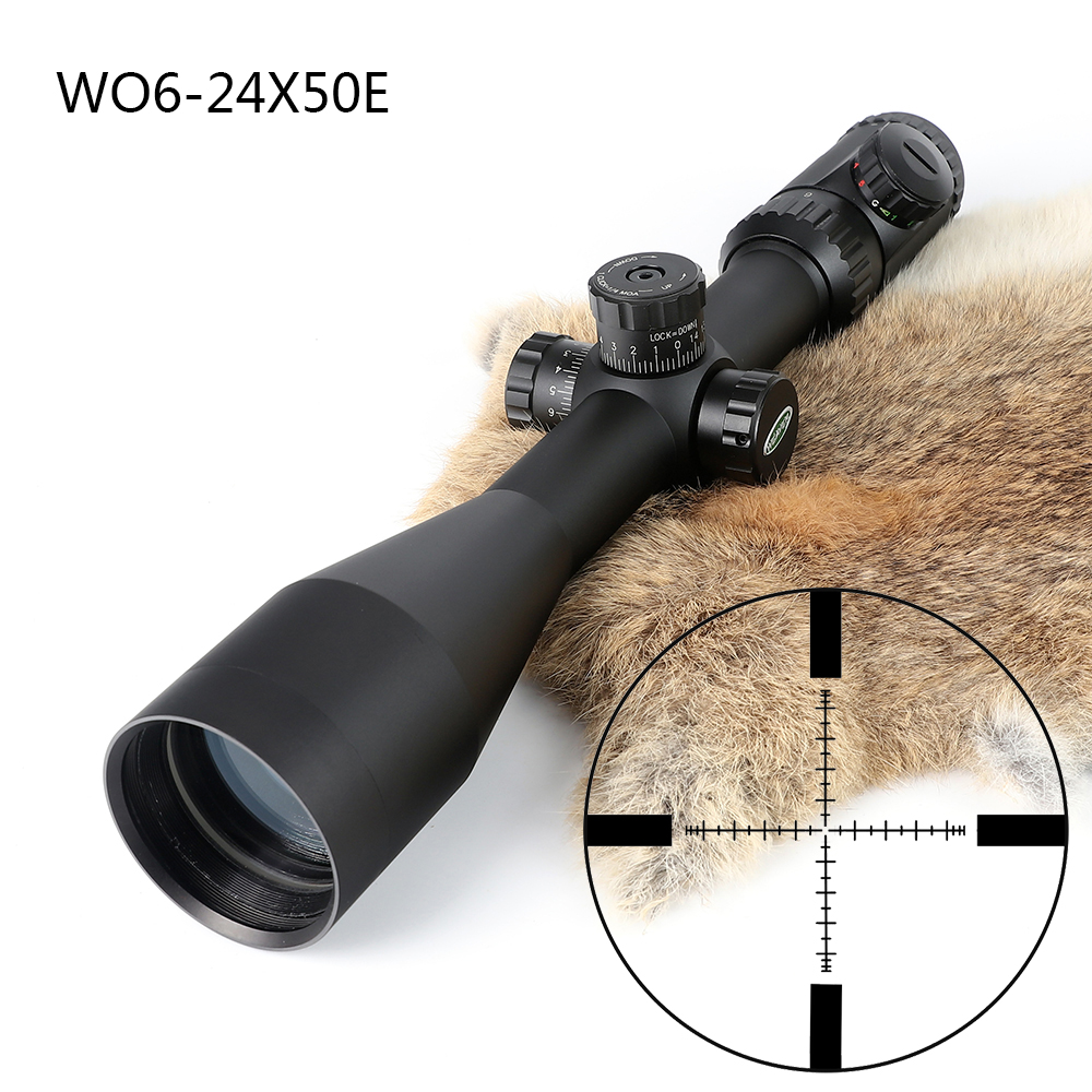 Hunting Shooting 6-24X50 Optical Sight P4 Glass Etched Reticle Riflescopes Side Parallax Adjustment Rifle Scope Free Shipping