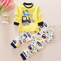 Hot Autumn Baby Boy Girl Clothes Long Sleeve T-Shirt Top Pants 2pcs Sport Suit Cartoon Baby Clothing Set Newborn Infant Layette