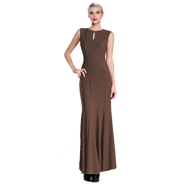b59e88f49129 1 pc Quality Milk Silk Slim Long Dresses XL Elegant gowns Formal Vintage Dress  Ladies Backless Dress Summer Dress Clothes