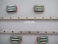 2 piece Taiwan HIWIN linear guideway HGR25 500mm length with 4 pieces HGH25CA carriage  made in mainland China