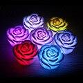 Venda quente LED Romantic Rose DIODO EMISSOR de luz Flor Cor Mudou led night Light Decoração do casamento/partido