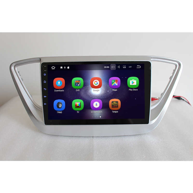 Lenvio 2 GB de RAM Android 7,1 coche DVD GPS navegación jugador para Hyundai Verna acento Solaries 2016 2017 Quad Core radio WIFI BT IPS