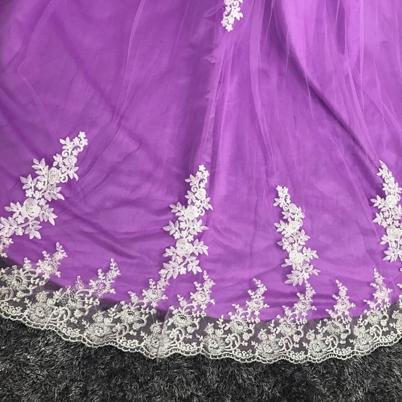 Katristsis d 2018 plus size wedding dress Ball Gown purple lace