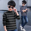 2016 Toddler Boys New Korean Style Long Sleeve Autumn Pullover Striped Fashion O-neck Green/Blue Fashion Knitted Sweaters