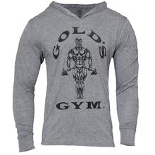 Золотых тренажерные залы одежда мужские толстовки Бодибилдинг уличной фитнес тренировки спортивный костюм мужской хлопок moletom masculino