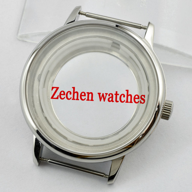 40mm Stainless Steel Watch sliver gold Case FIt Miyota8205/8215/821A, Mingzhu/DG2813/3804