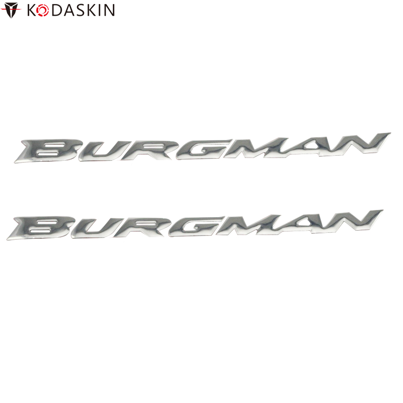 KODASKIN Chrome Silver Stickers Reflective Emblems for