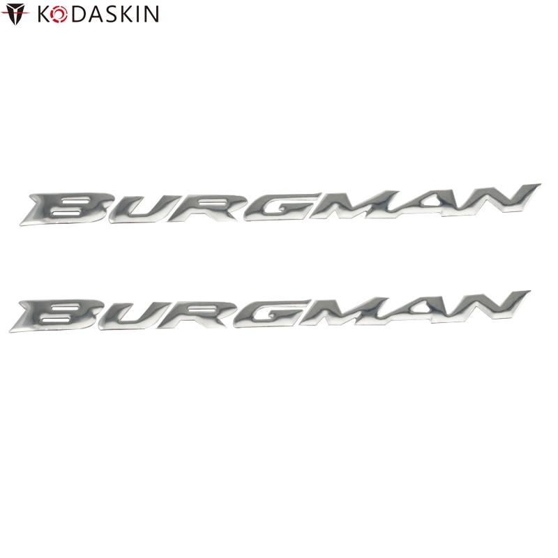 Freeshipping Burgman AN125 AN200 AN400 AN650 2002-2011 Stickers decals emblem Raise 3D Sliver color