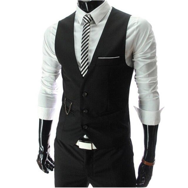 Новое поступление 2017 года платье Вязаные Жилеты для женщин для Для мужчин Slim Fit Для мужчин S костюм жилет мужской жилет Homme Повседневное рукавов Формальное Бизнес куртка