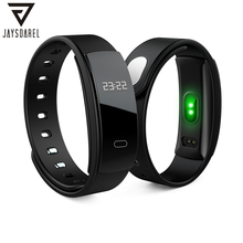 JAYSDAREL QS80 Blood Pressure Heart Rate Monitor Healthy Smart Band OLED IP67 Smart Watch Fitness Bracelet for Android iOS qs80 smart bracelet orange